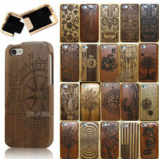 Real Wood Bamboo Handcraft Carved Hard Back Cover Case +Film for Apple Iphone 5C