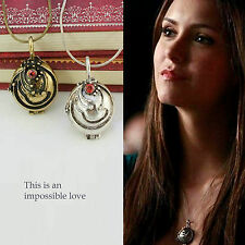 The Vampire Diaries Elena's Vervain Necklace Fashion Solid Locket Pendant