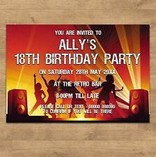 1-100 Personalised 18th 21st 30th 40th 50th 65th Birthday Party Invites Any Age