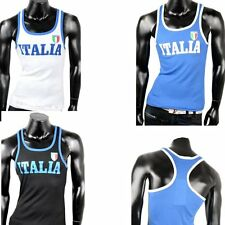 Muskelshirt Tank Top Muskel Achselshirt  Fitness Tanktop T-Shirt Body Italia