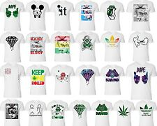 Weed marijuana T-SHIRT ALL STYLE joint blunt addicted Galaxy Diamond White Tee