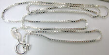 """MADE IN ITALY 925 sterling silver 45cm 18"""" box CHAIN - TEEN BOY GIRL"""