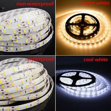 5M 5630 300Leds SMD Cool/Warm White Light Strip Light Waterperoof Focos DC 12V