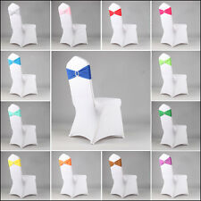 Hot Stretch Chair Cover Band With Buckle Slider Replace Chair Sash Bow 14 Colors