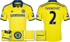 *14 / 15 - ADIDAS ; CHELSEA AWAY SHIRT SS + PATCHES / IVANOVIC 2 = KIDS SIZE*