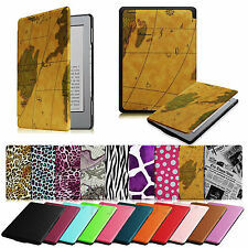 """For Amazon Kindle 5 & 4 6"""" E Ink Display Slim Leather Case Magnet Closure Cover"""