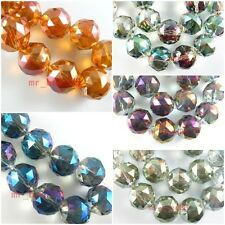 10pcs Charms Round Ball Loose Faceted Glass Crystal Findings Spacer Beads 20mm