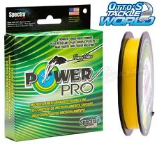 Power Pro (Powerpro) Hivis Yellow 300yds VARIOUS SIZES Braid Fishing Line @Ottos