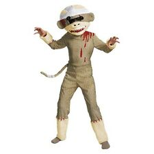 Boy's Zombie Sock Monkey Costume