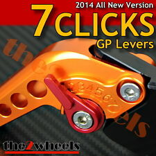 7 CLICKS Adjustable GP Levers Set SUZUKI DL1000 /V-STROM 2002-2014