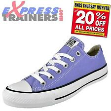 Converse Junior Kids Chuck Taylor All Star Ox Lo Trainers Lilac AUTHENTIC