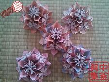 1/2 Decorative KUSUDAMA BALL / Origami - Flower Pattern - To nail in your wall!