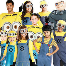 Despicable Me Adults Fancy Dress Minions Gru Agnes Childrens Boys Girls Costumes