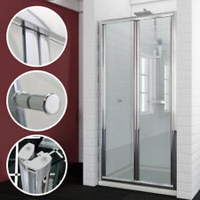 bifold shower door glass screen 700/760/800/900mm 5mm glass NEXT DAY DELIVERY