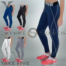 Ladies Lightweight Compression Pants Womens Baselayer Long Tights Skins Take 5