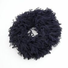 Poodle Meshed Fabric Cut Rich Volume Handmade  Elastic Band Scrunchies