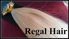 "20""NANO TIPS/RINGS #613 1G AAAGRADE HUMAN HAIR EXTENSIONS 100ST UK SELLER"