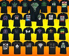 FUNNY Weed marijuana TSHIRT ALL STYLE joint Pot addicted Galaxy Diamond BLACK te
