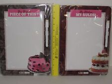 Cake Boss Dry Erase Board - Includes Attached Marker/Eraser & Magnetic Strips