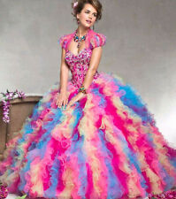 Free shipping Colorful Ball Gown Prom Dress Quinceanera Dresses Princess Dress