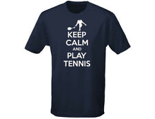 Keep Calm And Play Tennis Funny Mens T-Shirt (12 Colours)