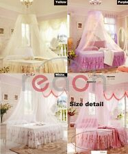 NewElegant Lace Bed Mosquito Netting Mesh Canopy Princess Round Dome Bedding Net
