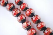 8pcs 12mm Exquisite Round Loose Charms Lampwork Glass Beads Craft Jewelry Making