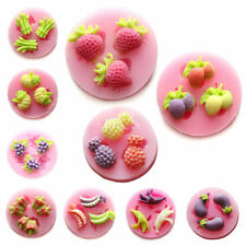 Fruits Vegetables Fondant Sugarpaste Chocolate Candy Cake Silicone Mold Bakeware
