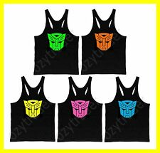 New Transformers Mens Premium Bodybuilding Tank Top Y-Back Gym Singlet Racerback