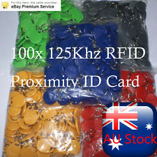 NEW 100PCS X 125Khz RFID Proximity ID Card Token Tags Key Keyfobs Access Control