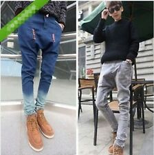 Hot Fashion Men's Jogger Dance Harem Pants Snowflake Print Jeans Slack Trousers