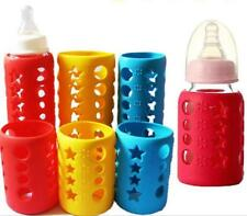 Anti-slip Anit-drop Heat resistant Silicone Sleeve Protector of Baby Bottle