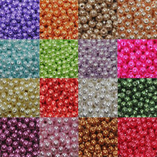 Wholesale Lots 100pcs fabrication Pearl Round Spacer Beads 4mm/6mm/8mm/10mm