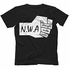 NWA Straight Outta Compton T-Shirt in 13 Colours ICE CUBE DR DRE N.W.A