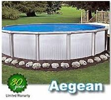 """NEW Heavy Duty 8"""" Top Rail Steel Above Ground Pool - Round or Oval Sizes"""
