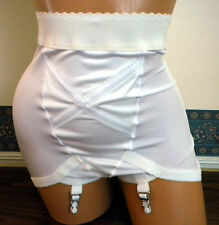 Vintage Design Girdle Panty with 4 Metal Garters - Rubber Grips Sz: S - 6x