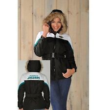 $115.00 NFL Womens The Looker Jacket with Faux Fur Trim Hood - Jaguars NOW $40