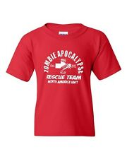 2012 Zombie Apocalypse Rescue Team Funny Horror Novelty Youth Kids T-Shirt Tee