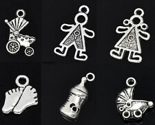 Wholesale HOT! Jewelry Mixed Silver Tone Baby Charms Pendants