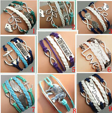 infinity sister owl bird bracelet girl women lady bracelet men boy bracelet gift