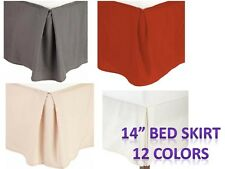 "Pleated Bed Skirts 14"" Drop Egyptian Solid Bed skirt - BLOWOUT SALE"