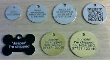 ENGRAVED PET CAT DOG KITTEN PUPPY IDENTITY DISCS, ID DISCS, ID TAG, PERSONALISED