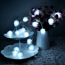 6.5ft Battery Operated Pine Cone String Lights Christmas Party 2m 20 Leds