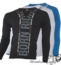 "JEEL Long Sleeve ""Born Rich"" Styl - Jumper - T - Shirt - T-Shirt - - Sweater New"