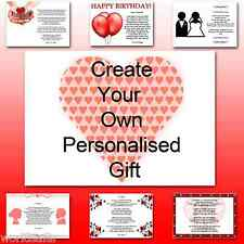 ♥ Personalised Poem ♥ To my Husband on birthday romantic unqiue gift for him