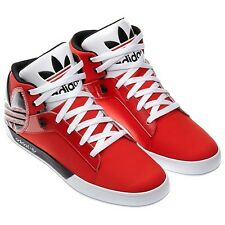 Mens Adidas Originals Attitude Vulc Big Logo Sneakers New, Red G66623 Hard Court
