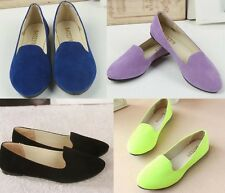 Korean Women Candy-colored Flats Shallow Mouth Round Comfort Shoes USA SZ 5.5-8
