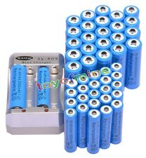 24x AA 3000mAh + 24x AAA 1800mAh 1.2V Ni-MH Blue Rechargeable Battery +Charger