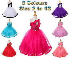 New Flower Girl Dress Pageant Party Sequin Girls Dress Size 2 to 12 - RRP: $135