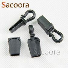Zip Clip Buckle Zipper Pulls Cord Rope Ends Lock Black For Paracord 10-500pcs